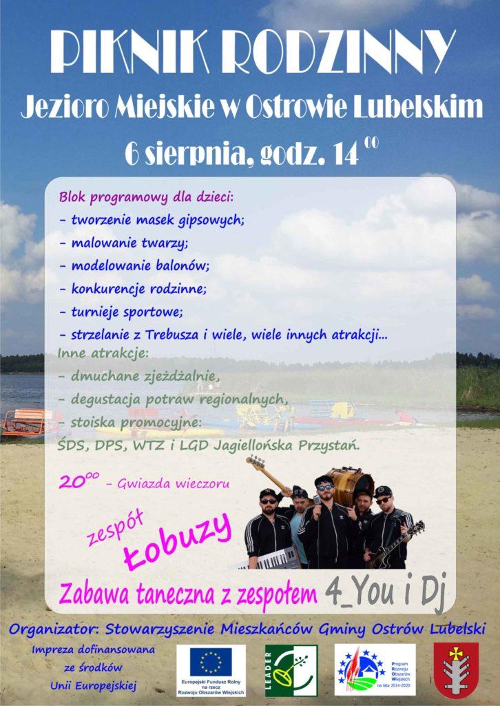Zaproszenie na Piknik Rodzinny w Ostrowie Lubelskim