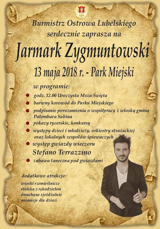 Zaproszenie na Jarmark Zygmuntowski