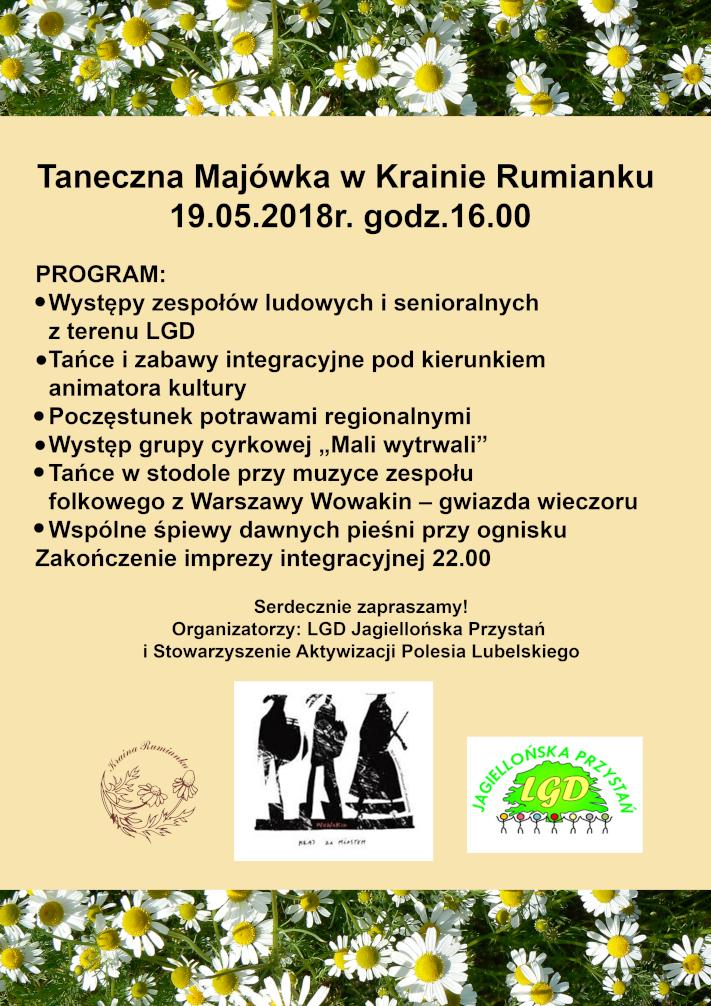 Zaproszenie na Taneczną Majówkę w Krainie Rumianku